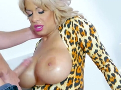 Wild and hot big titted milf Alyssa fucks Johnnys big dick