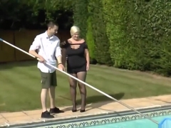 Mature Bbw Fucked In Ass By The Pool Boy