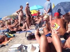 Kinky hidden cam moments at the Cap d'Agde beach while in vacation