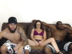 Dirty Brunette Tramp Interracial Gangbang Part 02