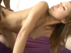 Crazy Japanese whore Aya Sakuraba in Incredible Creampie, Interracial JAV video