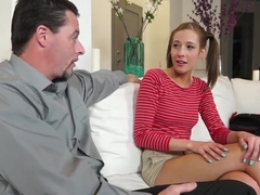 Stepdaughter Molly learns to have sex