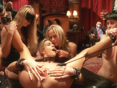 Maestro & Simone Sonay & Amanda Tate in Two Blonde Slaves Serve One Hard Cock - TheUpperFloor