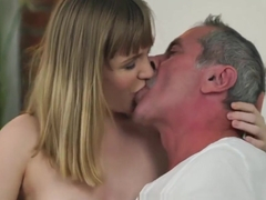 Handsome Babe Lucette Seduces And Fucks One Horny Granpa