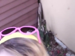 Teen Blows In Garden Pov