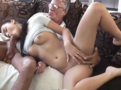 Dad Fucks His Sons Girlfriend With Son In Room