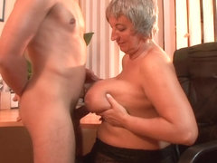 Mature Bbw Takes A Load On Her Huge Natural Tits - Mature'NDirty