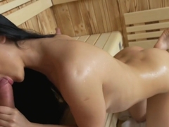 Dane Jones Petite Little Girl Gets Facial After Sweaty Sauna
