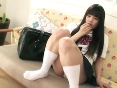Japanese schoolgirl Kana wants us to see her panties