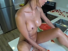 Young Asian Orgasms Hard/ Fruit cum