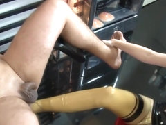 Amazing sex scene tranny Shemale Fucks Guy unbelievable , check it