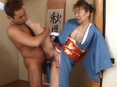 Maria Yuuri Japanese mature model gets hot hard sex