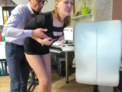 Nice Teasingshow in the Office