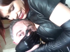 long leather gloves handsmother e bondage