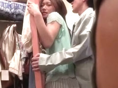 Best Japanese model Chika Arimura in Fabulous Couple, Public JAV clip