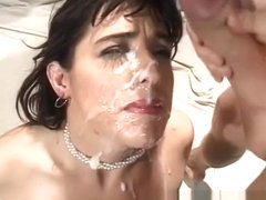 Slutty Susie Sorrento takes on five bulging rods of pleasure