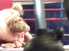 Oiledup Lesbo Babes Wrestling In Boxing Ring
