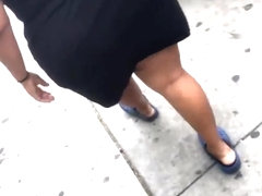 dominican gilf basketball cheecks freely jigglinh in dress