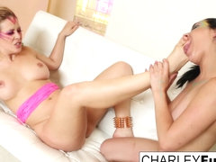 Charley Chase  Cherie DeVille in 80's Lesbians Charley And Cherie Finger Each Other - CharleyChase