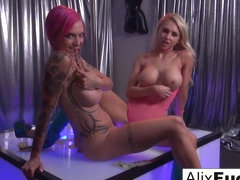 Alix Lynx  Anna Bell Peaks in Strippers Work They Up To A Hot Lesbian Fuck Session - AlixLynx