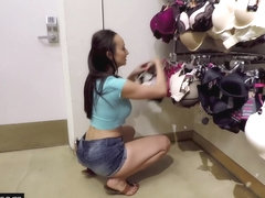 BANG Real MILFS - Lexi Luna gives a BJ in a dressing room