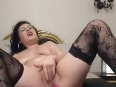 Hot milf enjoys vibrator in her pussy