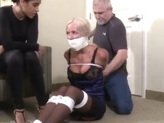 Blond Tied Up by Couple