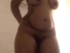 Playing with my pussy in the shower