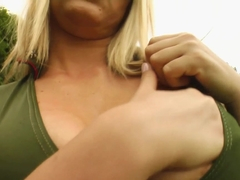 Prime Cups Trishas natural big boobs jiggle during self-fucking