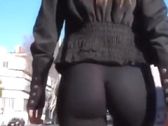 Great ass chick in see through leggings