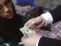 Needy Big Tits Arab Chick Takes 2 Huge Dicks For Cash