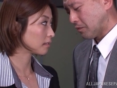 Lustful Asian milf Akari Asahina gets banged by horny boss
