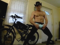 mike muters is, Cowboy Mike in, e-bike pose Cam 1