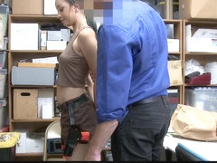 ShopLyfter - Hot Black Teen Fucked By Security Guard