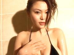 The point yoko matsugane black bikini