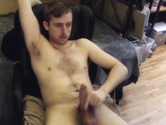 HUGE UNCUT COCK JERK OFF ON CAM