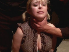 Poor Little American Girl Trapped in Mexico FIRST GANGBANG AND DP EVER
