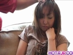 Sakura Hazuki Asian doll is inserted with anal beads and pussy stimulators in close up