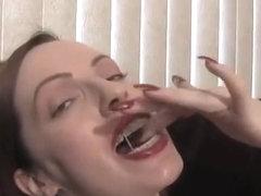 Русские в брекетах порно