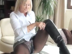 Pantyhose hardcore action in Best