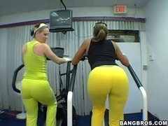 Large Nifty Moist Butts At The Gym