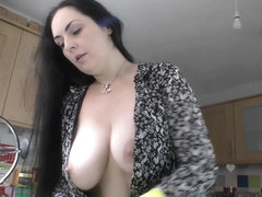 Big beautiful tits brunette and blonde show downblouse