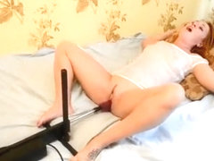 Real orgasm from sex machine