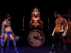 filmy porno z kreskówkami Mortal Kombatczarne kremowe cipki