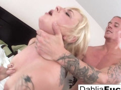 Dahlia Sky in Gonzo Sex On A Big Bed With Dahlia Sky And Richie Black - DahliaSky
