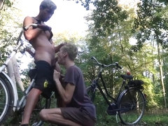 Blowjob In the Forest After A Bike Ride